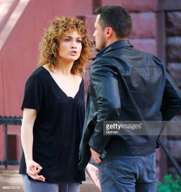 Jennifer Lopez is seen shooting a scene for 'Shades of Blue' with costar Nick Wechsler on May 19 2017 in New York City