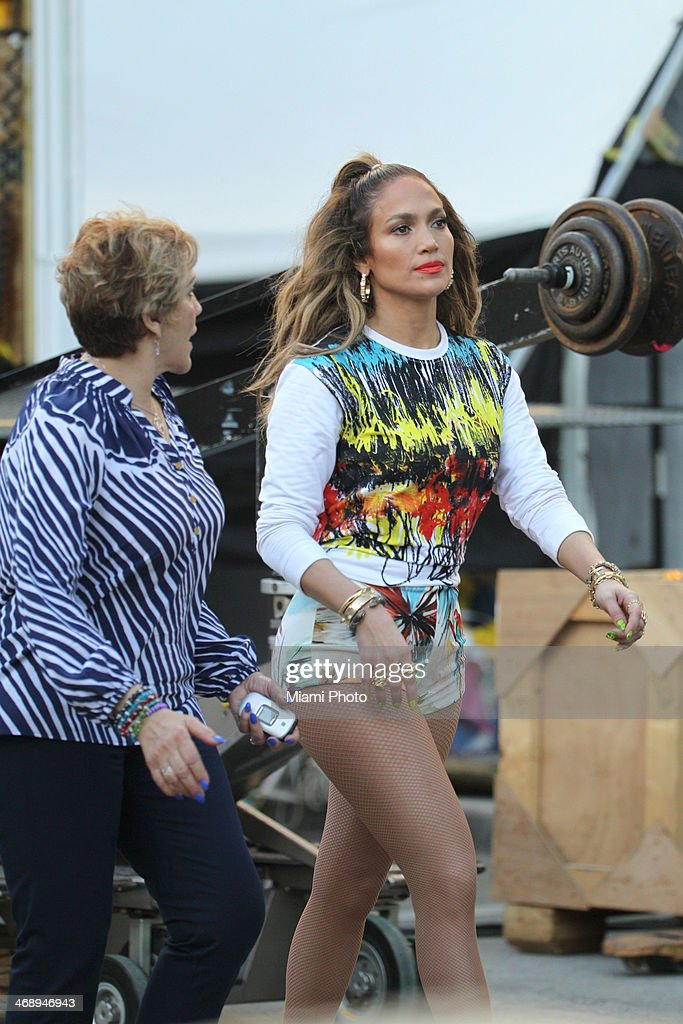 <a gi-track='captionPersonalityLinkClicked' href=/galleries/search?phrase=Jennifer+Lopez&family=editorial&specificpeople=201784 ng-click='$event.stopPropagation()'>Jennifer Lopez</a> is sighted filming music video on February 11, 2014 in Fort Lauderdale, Florida.