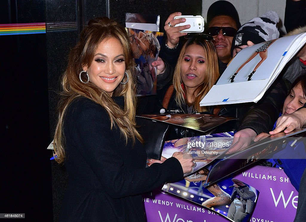 Jennifer Lopez leaves the 'Wendy Williams Show' on January 20 2015 in New York City