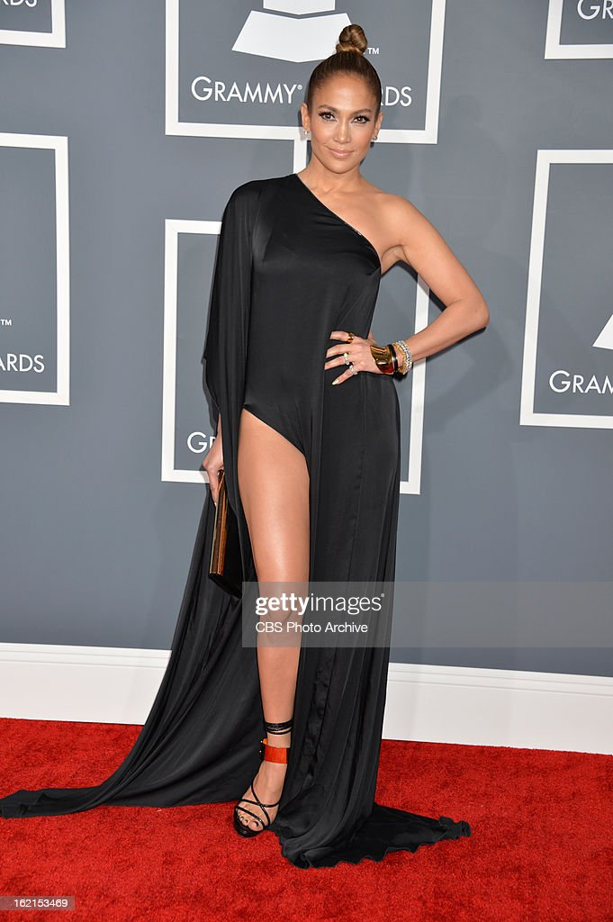 Jennifer Lopez on the red carpet at THE 55TH ANNUAL GRAMMY AWARDS The music industry's premier event will take place Sunday Feb 10 at STAPLES Center...
