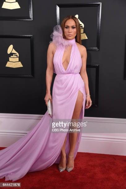 Jennifer Lopez on the Red Carpet at THE 59TH ANNUAL GRAMMY AWARDS broadcast live from the STAPLES Center in Los Angeles Sunday Feb 12 on the CBS...