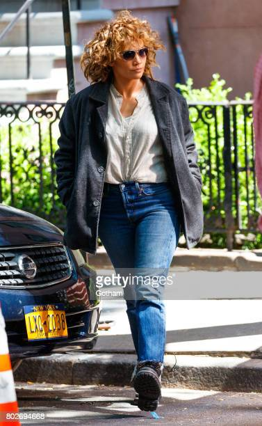 Jennifer Lopez on the set of 'Shades of Blue' on June 28 2017 in New York City