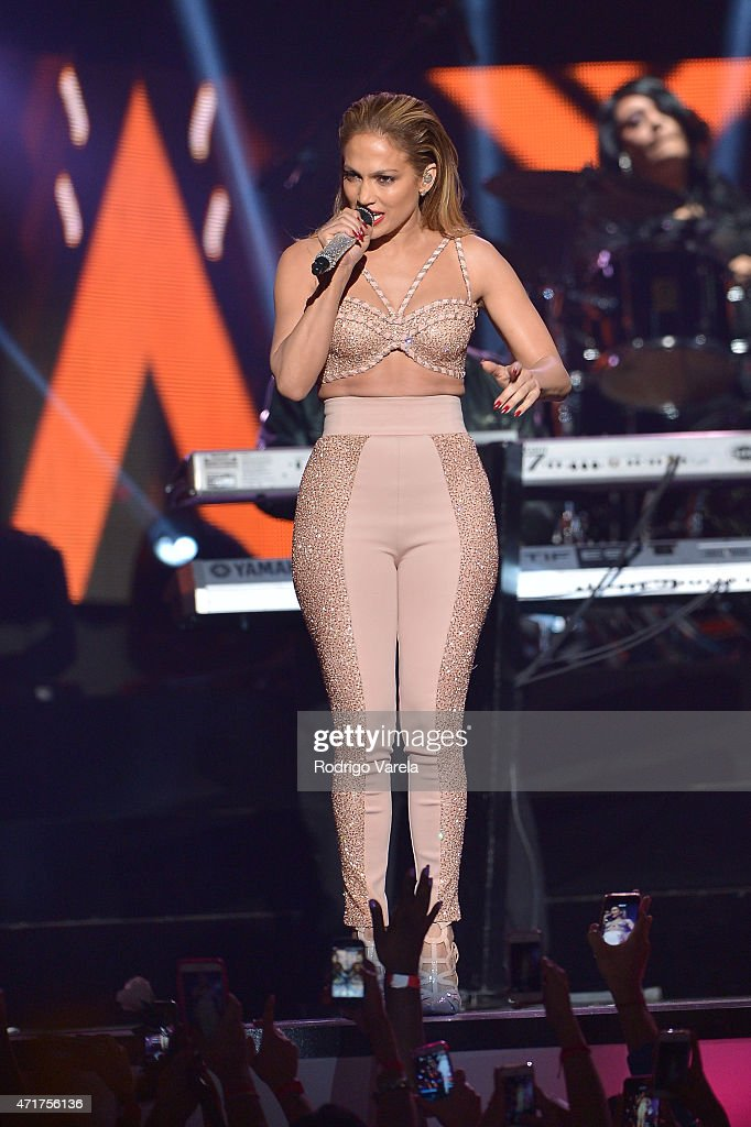Jennifer Lopez performs a musical tribute to Selena onstage at the 2015 Billboard Latin Music Awards presented bu State Farm on Telemundo at Bank United Center on April 30, 2015 in Miami, Florida.