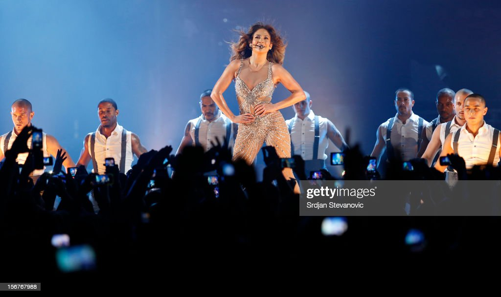 <a gi-track='captionPersonalityLinkClicked' href=/galleries/search?phrase=Jennifer+Lopez&family=editorial&specificpeople=201784 ng-click='$event.stopPropagation()'>Jennifer Lopez</a> performs at Belgrade Arena on November 20, 2012 in Belgrade, Serbia.