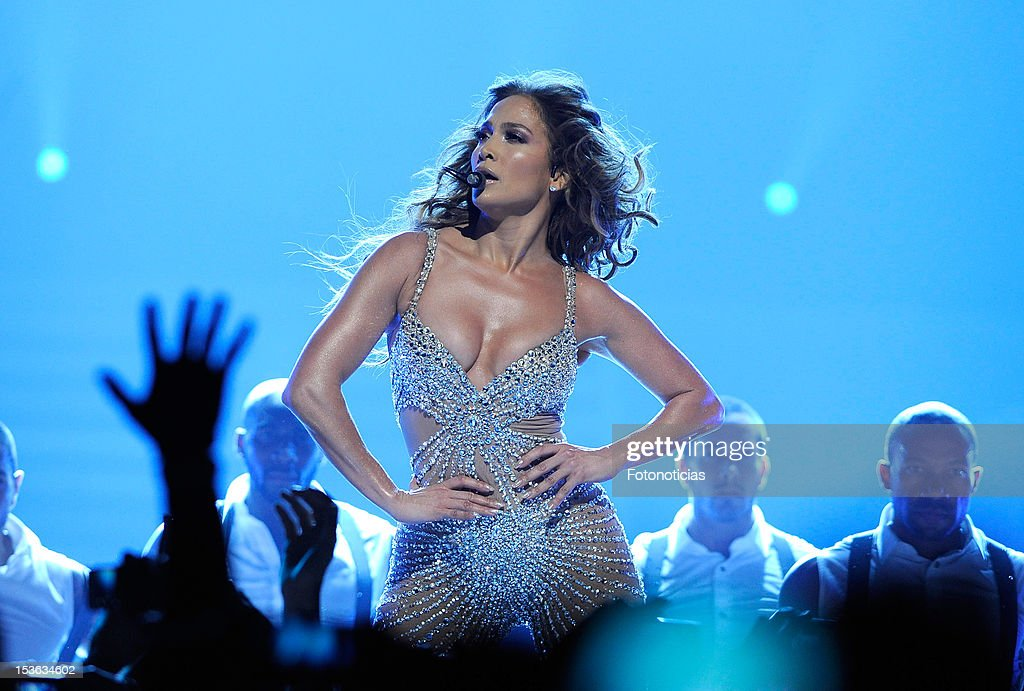 Jennifer Lopez performs at The Palacio de Deportes on October 7, 2012 in Madrid, Spain.