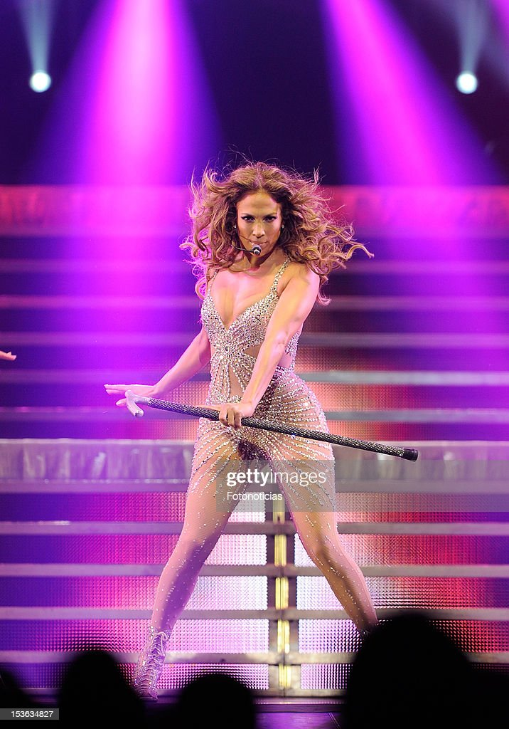 <a gi-track='captionPersonalityLinkClicked' href=/galleries/search?phrase=Jennifer+Lopez&family=editorial&specificpeople=201784 ng-click='$event.stopPropagation()'>Jennifer Lopez</a> performs at The Palacio de Deportes on October 7, 2012 in Madrid, Spain.