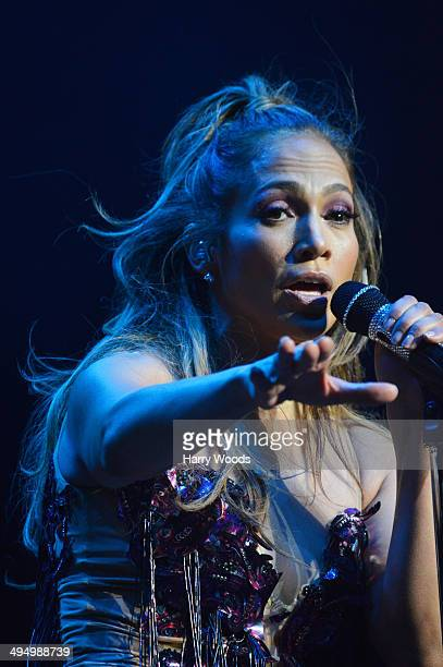 Jennifer Lopez performs during Kiss 108's Kiss Concert 2014 at Xfinity Center on May 31 2014 in Mansfield Massachusetts