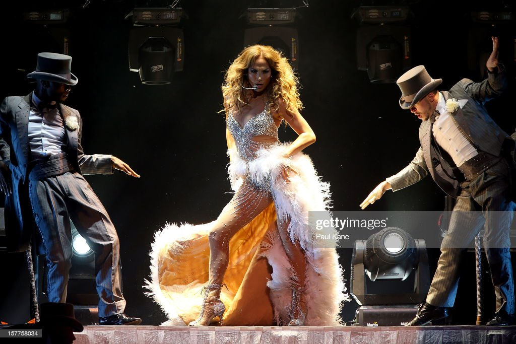 Jennifer Lopez performs for fans at Perth Arena on December 6, 2012 in Perth, Australia.