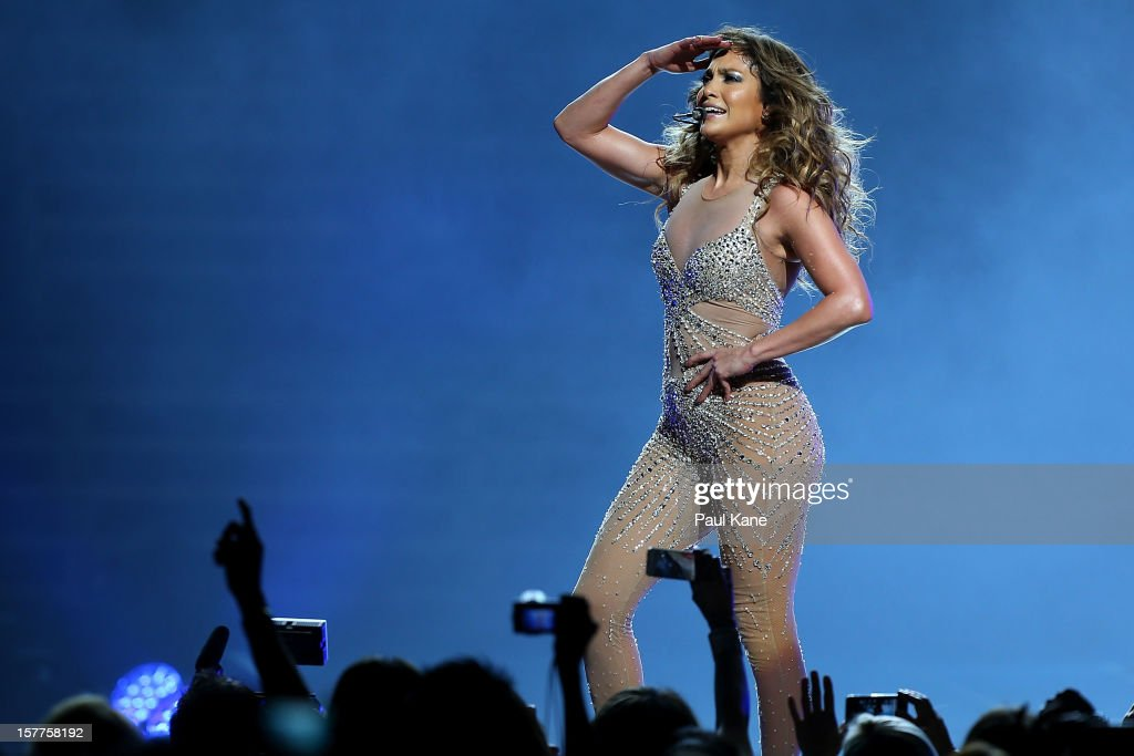 <a gi-track='captionPersonalityLinkClicked' href=/galleries/search?phrase=Jennifer+Lopez&family=editorial&specificpeople=201784 ng-click='$event.stopPropagation()'>Jennifer Lopez</a> performs for fans at Perth Arena on December 6, 2012 in Perth, Australia.