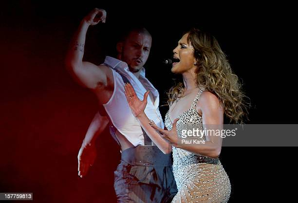 Jennifer Lopez performs for fans at Perth Arena on December 6 2012 in Perth Australia