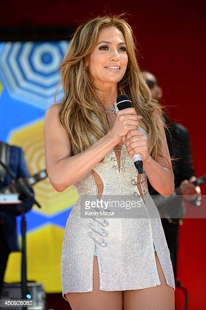 Jennifer Lopez performs on ABC's 'Good Morning America' at Rumsey Playfield on June 20 2014 in New York City