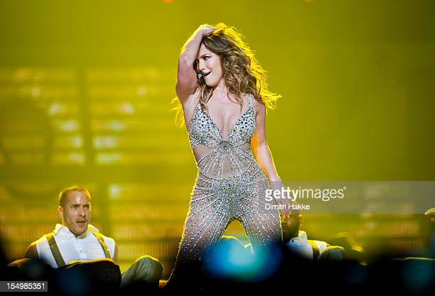 Jennifer Lopez performs on stage at Ahoy on October 29 2012 in Rotterdam Netherlands