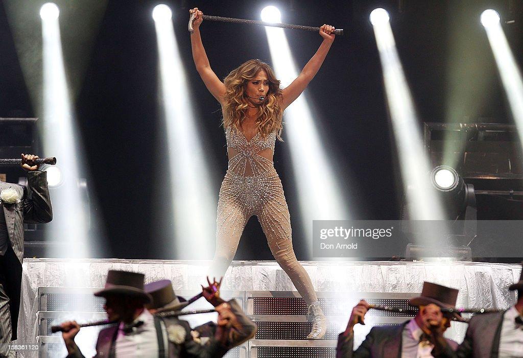 Jennifer Lopez performs on stage at Allphones Arena on December 14, 2012 in Sydney, Australia.