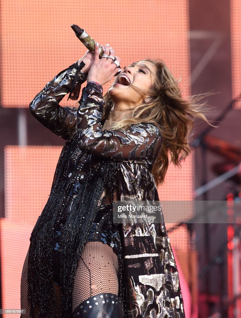 <a gi-track='captionPersonalityLinkClicked' href=/galleries/search?phrase=Jennifer+Lopez&family=editorial&specificpeople=201784 ng-click='$event.stopPropagation()'>Jennifer Lopez</a> performs on stage at the 'Chime For Change: The Sound Of Change Live' Concert at Twickenham Stadium on June 1, 2013 in London, England. Chime For Change is a global campaign for girls' and women's empowerment founded by Gucci with a founding committee comprised of Gucci Creative Director Frida Giannini, Salma Hayek Pinault and Beyonce Knowles-Carter.