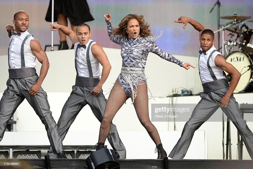 <a gi-track='captionPersonalityLinkClicked' href=/galleries/search?phrase=Jennifer+Lopez&family=editorial&specificpeople=201784 ng-click='$event.stopPropagation()'>Jennifer Lopez</a> performs on stage on day 6 of British Summer Time Hyde Park presented by Barclaycard at Hyde Park on July 14, 2013 in London, England.