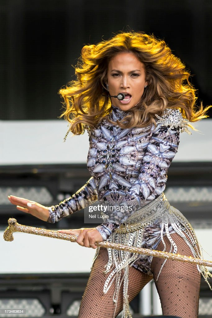 <a gi-track='captionPersonalityLinkClicked' href=/galleries/search?phrase=Jennifer+Lopez&family=editorial&specificpeople=201784 ng-click='$event.stopPropagation()'>Jennifer Lopez</a> performs on the Great Oak Stage on day 6 of British Summer Time Hyde Park presented by Barclaycard at Hyde Park on July 14, 2013 in London, England.