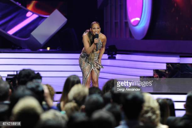 Jennifer Lopez performs onstage at the Billboard Latin Music Awards at Watsco Center on April 27 2017 in Coral Gables Florida