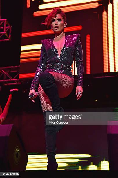Jennifer Lopez performs onstage during the Mega 979 Megaton Concert at Madison Square Garden on October 28 2015 in New York City