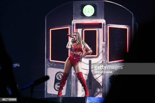 Jennifer Lopez performs Tidal X Brooklyn at Barclays Center on October 17 2017 in the Brooklyn borough of New York City New York