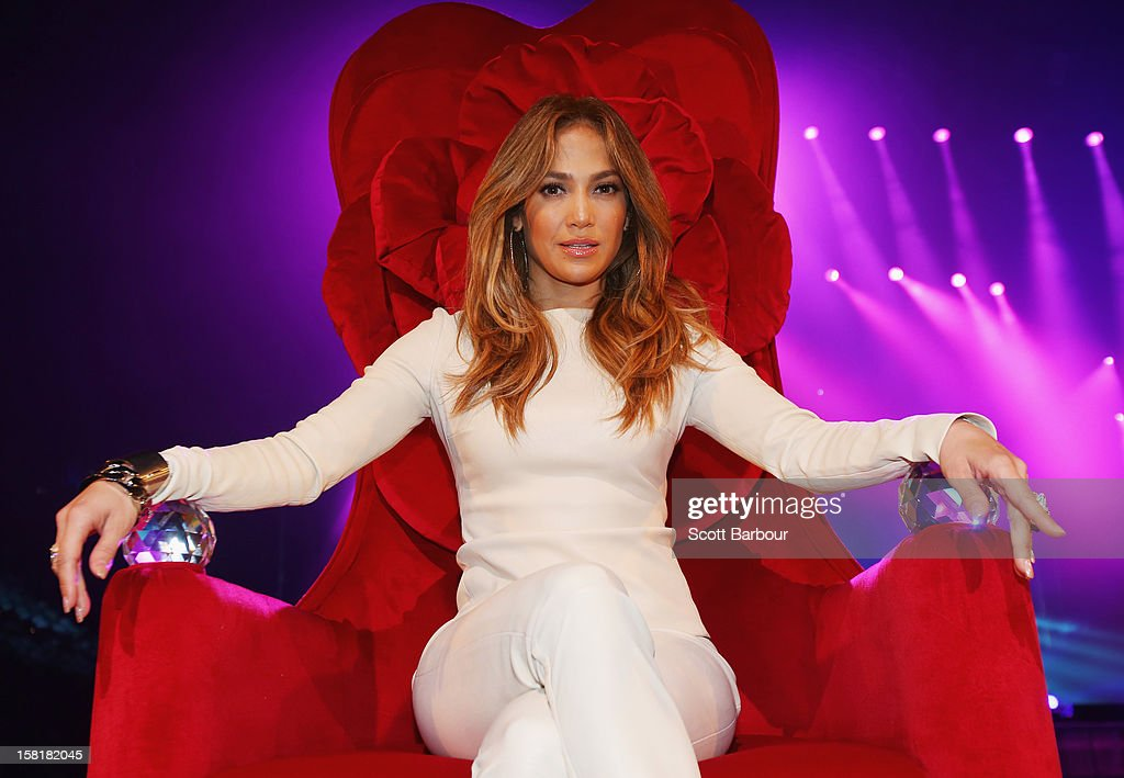 <a gi-track='captionPersonalityLinkClicked' href=/galleries/search?phrase=Jennifer+Lopez&family=editorial&specificpeople=201784 ng-click='$event.stopPropagation()'>Jennifer Lopez</a> poses at a press call at Rod Laver Arena on December 11, 2012 in Melbourne, Australia.