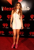 Jennifer Lopez poses backstage at the iHeartRadio Music Festival held at the MGM Grand Garden Arena on September 24 2011 in Las Vegas Nevada