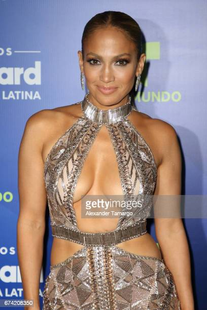 Jennifer Lopez poses in the press room during the Billboard Latin Music Awards at Watsco Center on April 27 2017 in Coral Gables Florida