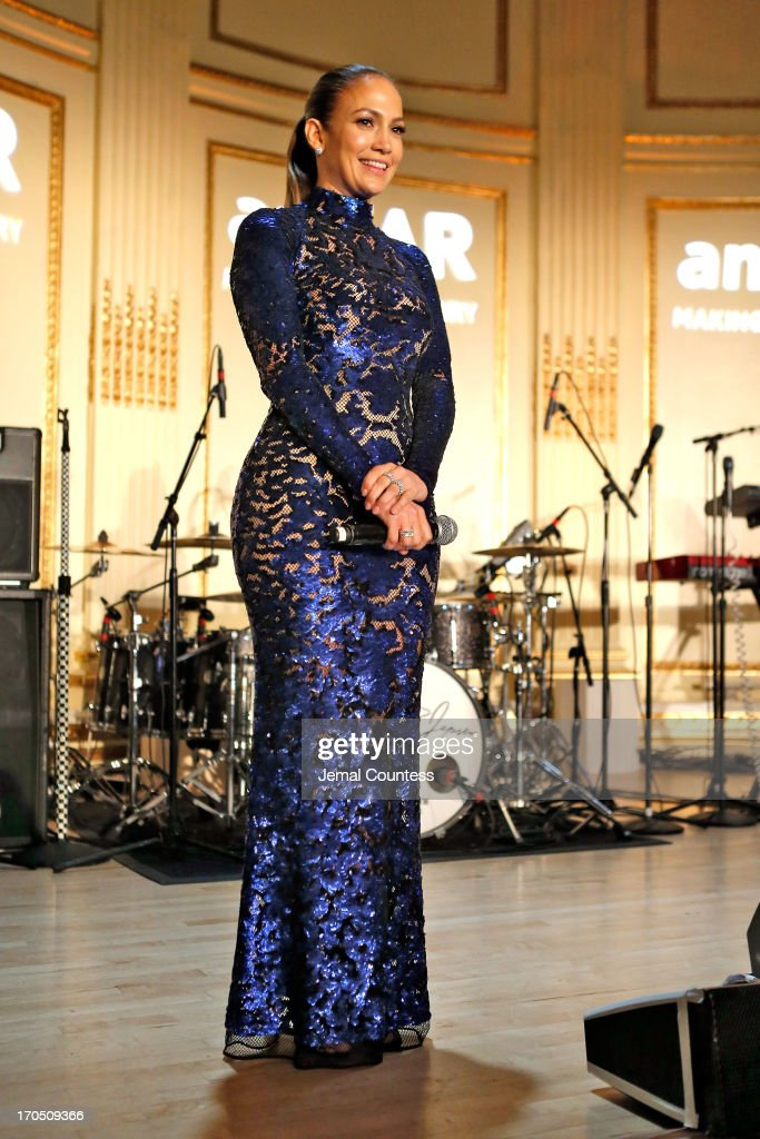 <a gi-track='captionPersonalityLinkClicked' href=/galleries/search?phrase=Jennifer+Lopez&family=editorial&specificpeople=201784 ng-click='$event.stopPropagation()'>Jennifer Lopez</a> recipient of the Humanitarian award, speaks on stage during the 4th Annual amfAR Inspiration Gala New York at The Plaza Hotel on June 13, 2013 in New York City.
