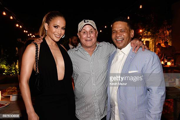 Jennifer Lopez Ronald O Perelman and Benny Medina attend Apollo in the Hamptons 2016 at The Creeks on August 20 2016 in East Hampton New York