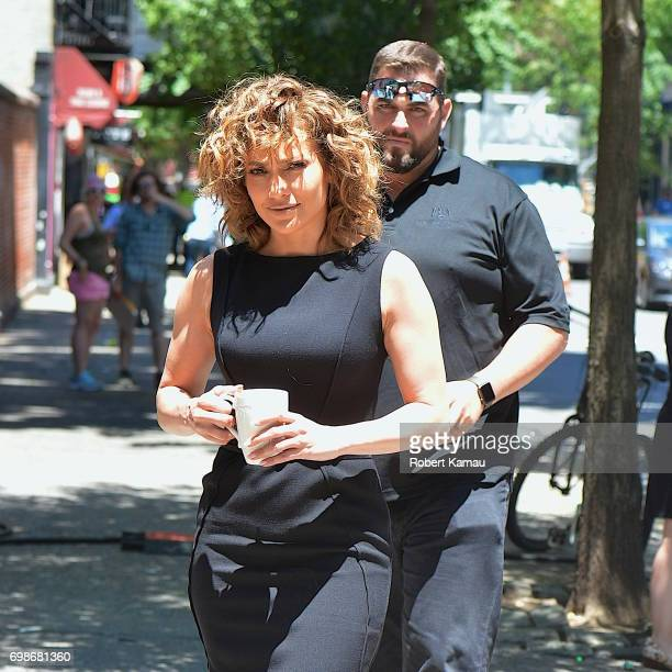 Jennifer Lopez seen at a 'Shades of Blue' film set in SoHo on June 20 2017 in New York City