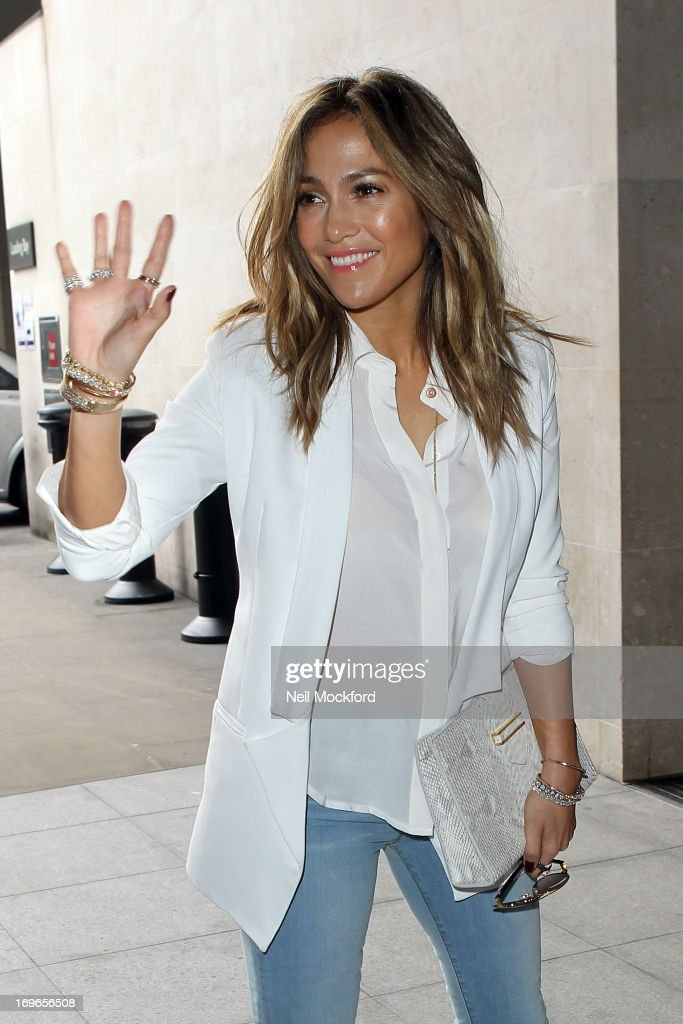 <a gi-track='captionPersonalityLinkClicked' href=/galleries/search?phrase=Jennifer+Lopez&family=editorial&specificpeople=201784 ng-click='$event.stopPropagation()'>Jennifer Lopez</a> seen at BBC Radio One on May 30, 2013 in London, England.