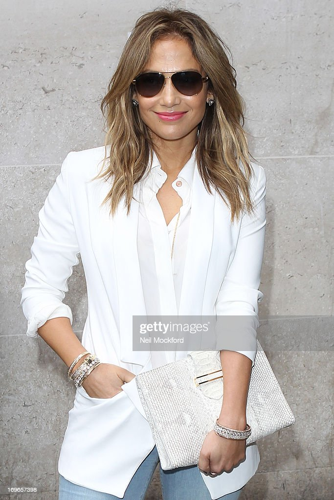 Jennifer Lopez seen at BBC Radio One on May 30, 2013 in London, England.