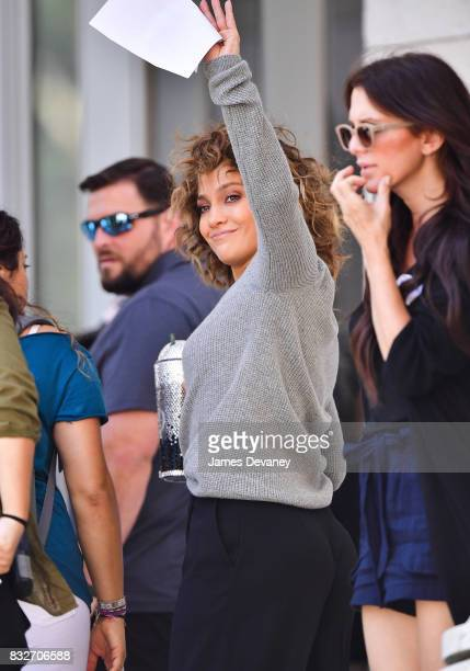 Jennifer Lopez seen filming on location for 'Shades of Blue' in Brooklyn on August 16 2017 in New York City