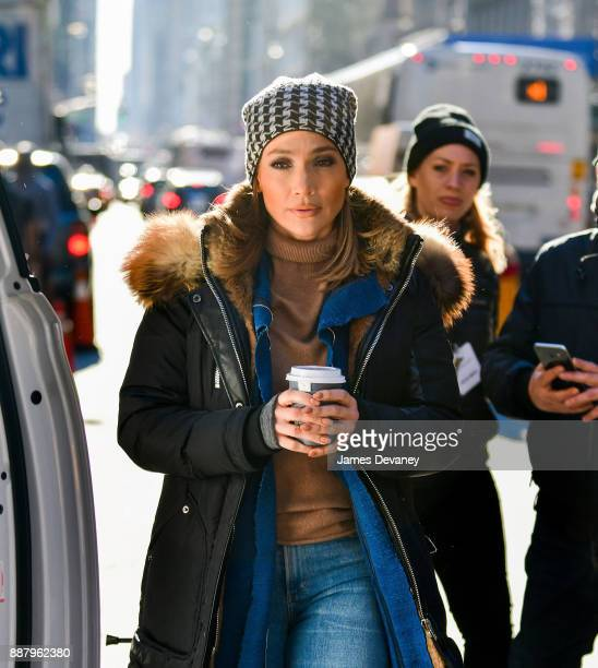 Jennifer Lopez seen on location for 'Second Act' in SoHo on December 7 2017 in New York City