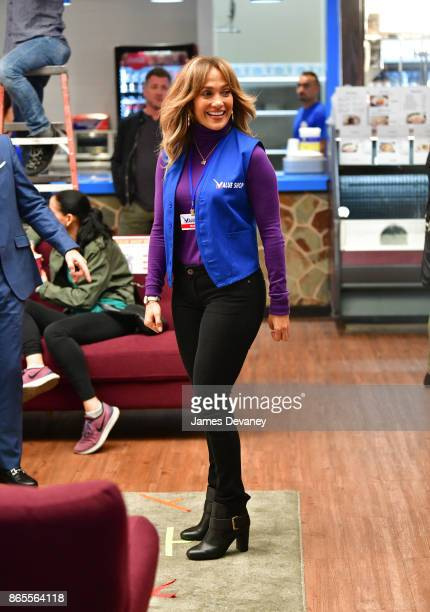 Jennifer Lopez seen on location for 'Second Act' on October 23 2017 in New York City