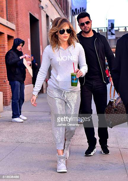 Jennifer Lopez seen on the streets of Manhattan on March 2 2016 in New York City