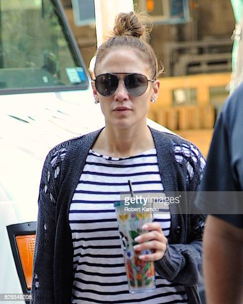 Jennifer Lopez seen out and about on August 10 2017 in New York City