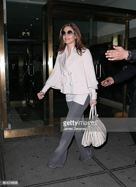 Jennifer Lopez sighting in New York City on March 28 2008