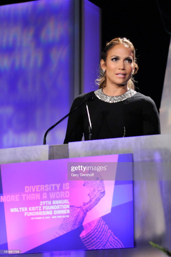 <a gi-track='captionPersonalityLinkClicked' href=/galleries/search?phrase=Jennifer+Lopez&family=editorial&specificpeople=201784 ng-click='$event.stopPropagation()'>Jennifer Lopez</a> speaks at the 29th Annual Walter Kaitz Foundation Fundraising Dinner at The Hilton Hotel on September 12, 2012 in New York City.