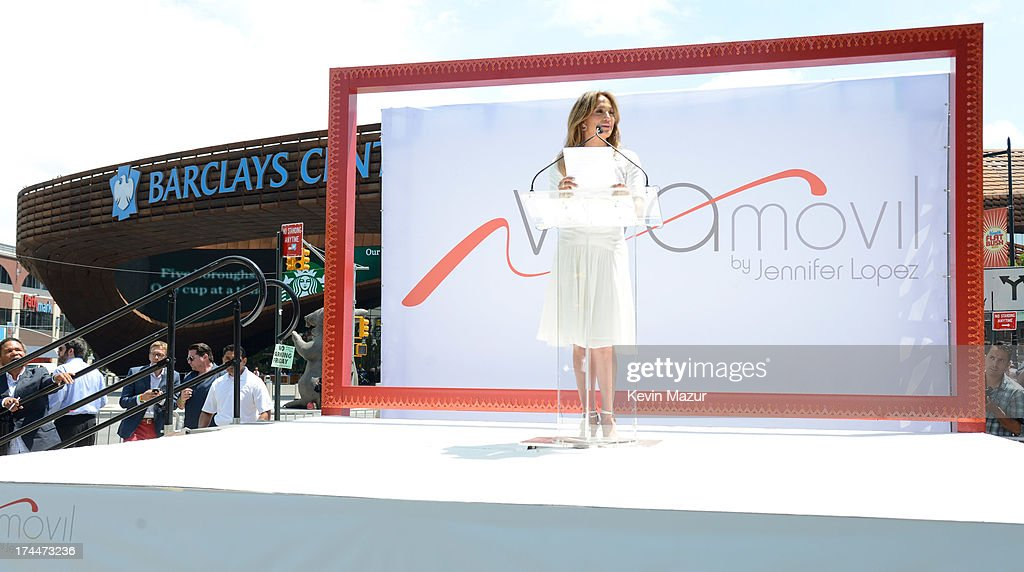 <a gi-track='captionPersonalityLinkClicked' href=/galleries/search?phrase=Jennifer+Lopez&family=editorial&specificpeople=201784 ng-click='$event.stopPropagation()'>Jennifer Lopez</a> speaks on stage at the opening of Viva Movil By <a gi-track='captionPersonalityLinkClicked' href=/galleries/search?phrase=Jennifer+Lopez&family=editorial&specificpeople=201784 ng-click='$event.stopPropagation()'>Jennifer Lopez</a> flagship store on July 26, 2013 in New York City.