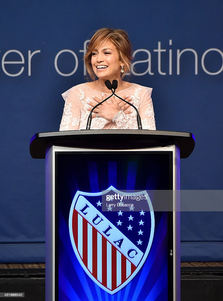<a gi-track='captionPersonalityLinkClicked' href=/galleries/search?phrase=Jennifer+Lopez&family=editorial&specificpeople=201784 ng-click='$event.stopPropagation()'>Jennifer Lopez</a> speaks onstage at the LULAC/NUVOtv Unity Luncheon With <a gi-track='captionPersonalityLinkClicked' href=/galleries/search?phrase=Jennifer+Lopez&family=editorial&specificpeople=201784 ng-click='$event.stopPropagation()'>Jennifer Lopez</a> at New York Hilton Midtown on July 10, 2014 in New York City.