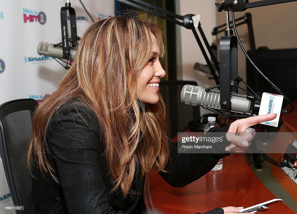 Jennifer Lopez visits at SiriusXM Studios on May 8, 2013 in New York City.
