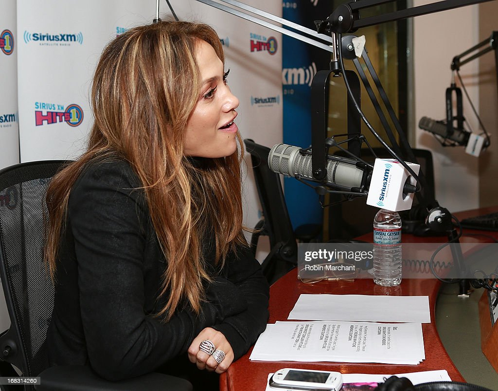 <a gi-track='captionPersonalityLinkClicked' href=/galleries/search?phrase=Jennifer+Lopez&family=editorial&specificpeople=201784 ng-click='$event.stopPropagation()'>Jennifer Lopez</a> visits at SiriusXM Studios on May 8, 2013 in New York City.