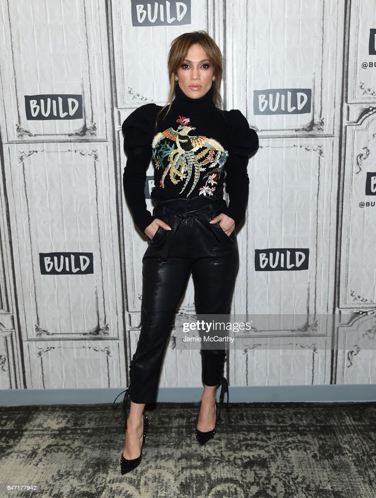 Jennifer Lopez visits the Build Series Presents Jennifer Lopez And Ray Liotta Discussing 'Shades Of Blue' at Build Studio on March 2, 2017 in New York City.