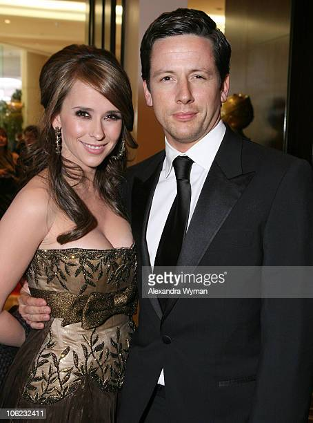 Jennifer Love Hewitt and Ross McCall during Moet Chandon Inside Ballroom at the 64th Annual Golden Globe Awards at Beverly Hilton in Beverly Hills...