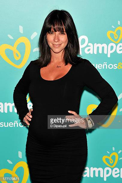 Jennifer Love Hewitt attends the Pampers Love Sleep Play campaign launch at Vanderbilt Hall at Grand Central Terminal on August 21 2013 in New York...