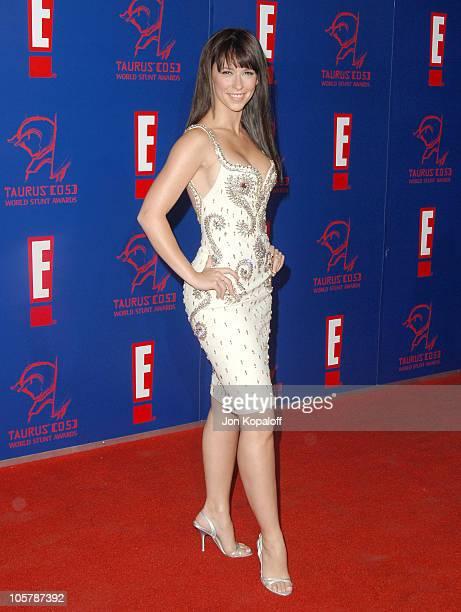 Jennifer Love Hewitt during 2005 Taurus World Stunt Awards Arrivals at Paramount Studios in Los Angeles California United States