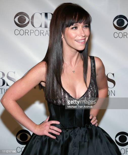 Jennifer Love Hewitt during CBS Television 2006 TCA Winter Party Arrivals at The Wind Tunnel in Pasadena California United States