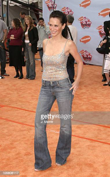 Jennifer Love Hewitt during Nickelodeon's 17th Annual Kids' Choice Awards Arrivals at Pauley Pavillion in Westwood California United States