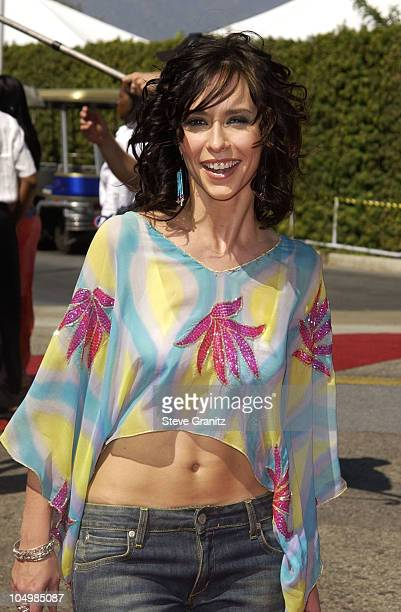 Jennifer Love Hewitt during The 2002 Teen Choice Awards Arrivals at The Universal Amphitheatre in Universal City California United States