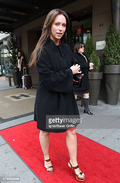 Jennifer Love Hewitt is seen leaving her hotel on February 13 2011 in New York City